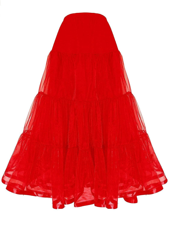 Shimaly Women's Floor Length Wedding Petticoat Long Underskirt for Formal Dress S-3XL