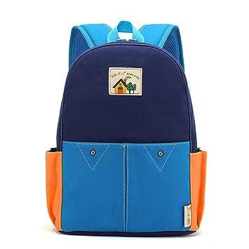 Wewod mochilas escolares bebe/mochilas escolares chico/mochilas escolares infantiles/mochilas escolares wonderful 25x 35 x 12cm (L * H * W) (Azul): ...