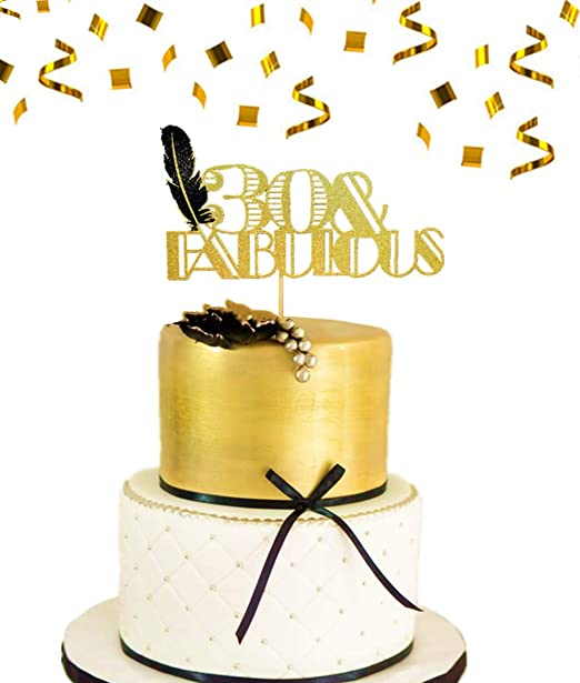 Brilliant Jevenis 30Th Birthday Cake Topper 30 Fabulous Cake Topper Art Funny Birthday Cards Online Bapapcheapnameinfo