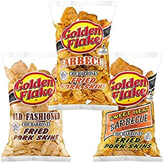 product image for Golden Flake Fried Pork Skins Variety Pack: Old Fashioned, Barbecue, Sweet Heat Barbecue (2 Bags of Each) (6 Bags)
