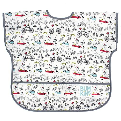 Short Sleeve Toddler Bib / Smock 1-3 Years, Waterproof, Washable, Stain and Odor Resistant -  Urban Bird ()