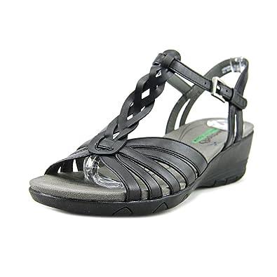 cb07273af3 BareTraps Womens Honora Peep Toe Casual T-Strap Sandals, Black, Size 5.5