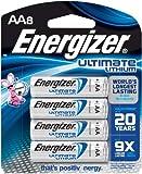Energizer L91BP-8 AA Lithium Batteries, 8-count, Lasts 9 Times Longer