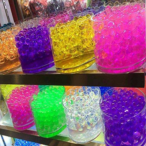 Blinggasm® 12 Pack Combo Decoration Vase Filler - Water Beads Gel - 12 Colors - 5 Grams Per Pack Make Over a Quart Per Pack - Wedding Decoration Vase (Floral Gel Candle)