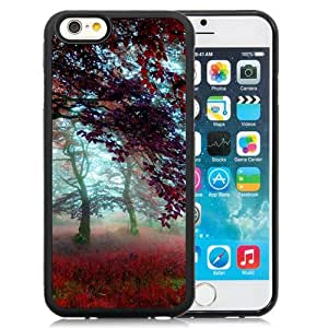Custom Designed Cover Case For iPhone 6 4.7 Inch TPU With Red Effect Autumn Forest Phone Case Diy ka ka case