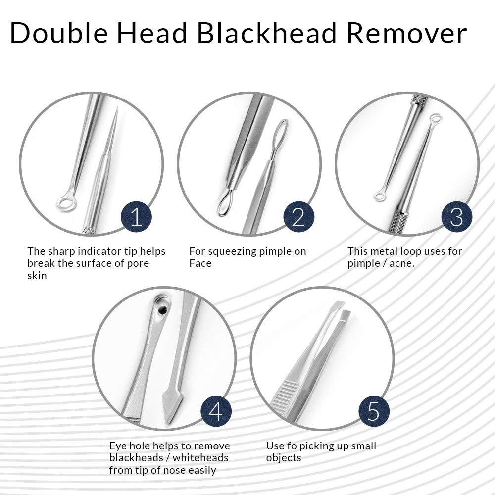 Blackhead Remover Kit | Removedor espinilla Acné comedone Espinilla Pinspot Puntos Negros Extractor: Amazon.es: Belleza