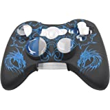 PIXNOR Soft Silicone Protective Skin Case Cover for Xbox 360 Controller (Blue)