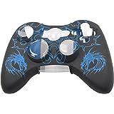 LEORX Custodia protettiva Cover in silicone per Controller Xbox 360 (blu)