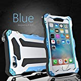 iPhone 6 Plus Case,Bpowe Gorilla Glass Aluminum Metal premium protection Shockproof Military Bumper Heavy Duty Sturdy Protective Cover Shell Case for iPhone 6 plus / 6s plus 5.5' (Blue)