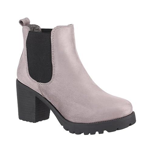 b17949124 Elara - Botines Chelsea de Sintético Mujer  Amazon.es  Zapatos y  complementos