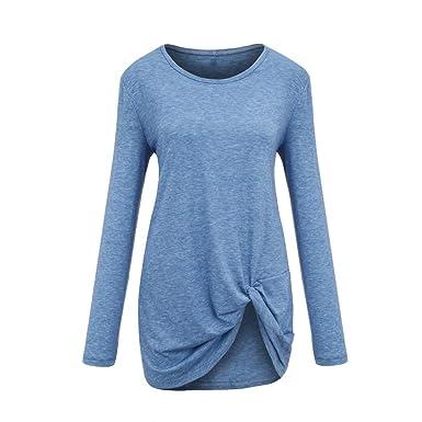 MRULIC Mode Femme Automne Hiver Exquis Chemisier Tops T-Shirt décontracté à Manches  Longues en e28e9c0664b3