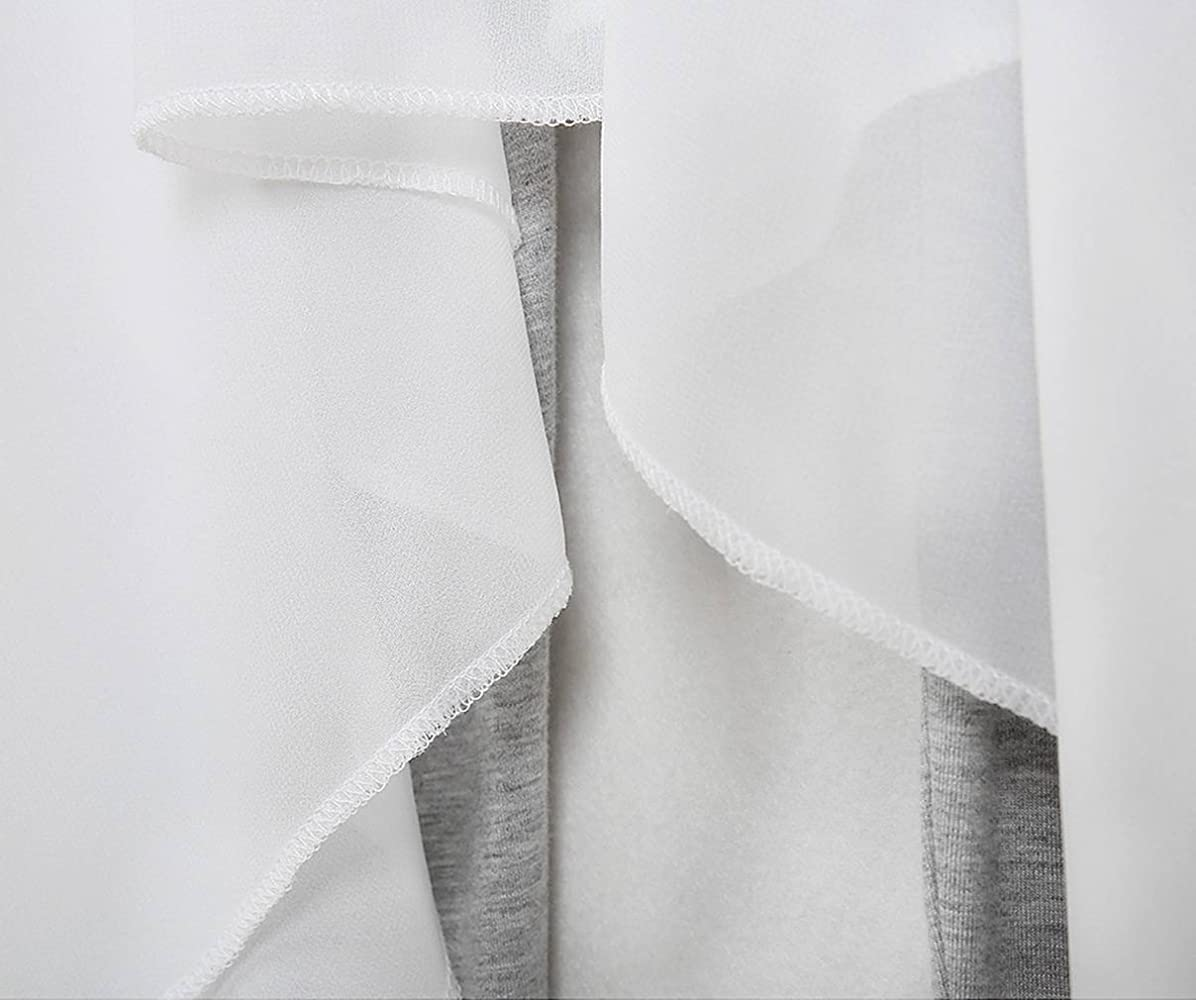 Xiang Ru Falda de Yoga Irregular con Cintura elástica de Cintura ...