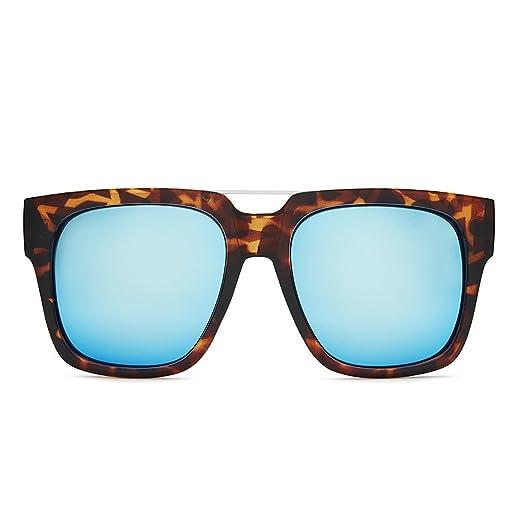 39a9a0c39b Image Unavailable. Image not available for. Color  QUAY AUSTRALIA Women s  Mila QUAY x Chrisspy Tort Blue Mirror Sunglasses
