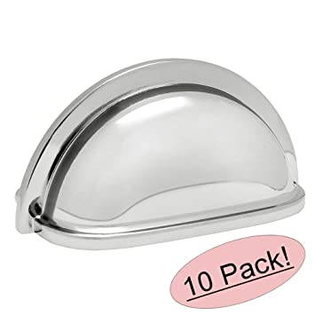 Exceptional Cosmas 4310CH Polished Chrome Cabinet Hardware Bin Cup Drawer Handle Pull    3u0026quot; Inch (