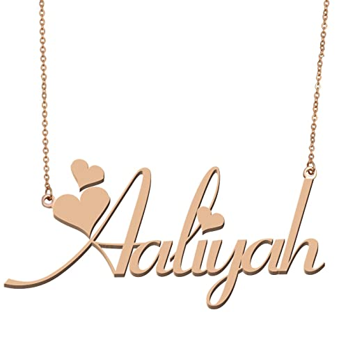 7a8e133bf91f3 Aoloshow Customized Custom Name Necklace Personalized - Custom Any Initial  Plated Handwriting Nameplate Necklace Gift for Womens Girls
