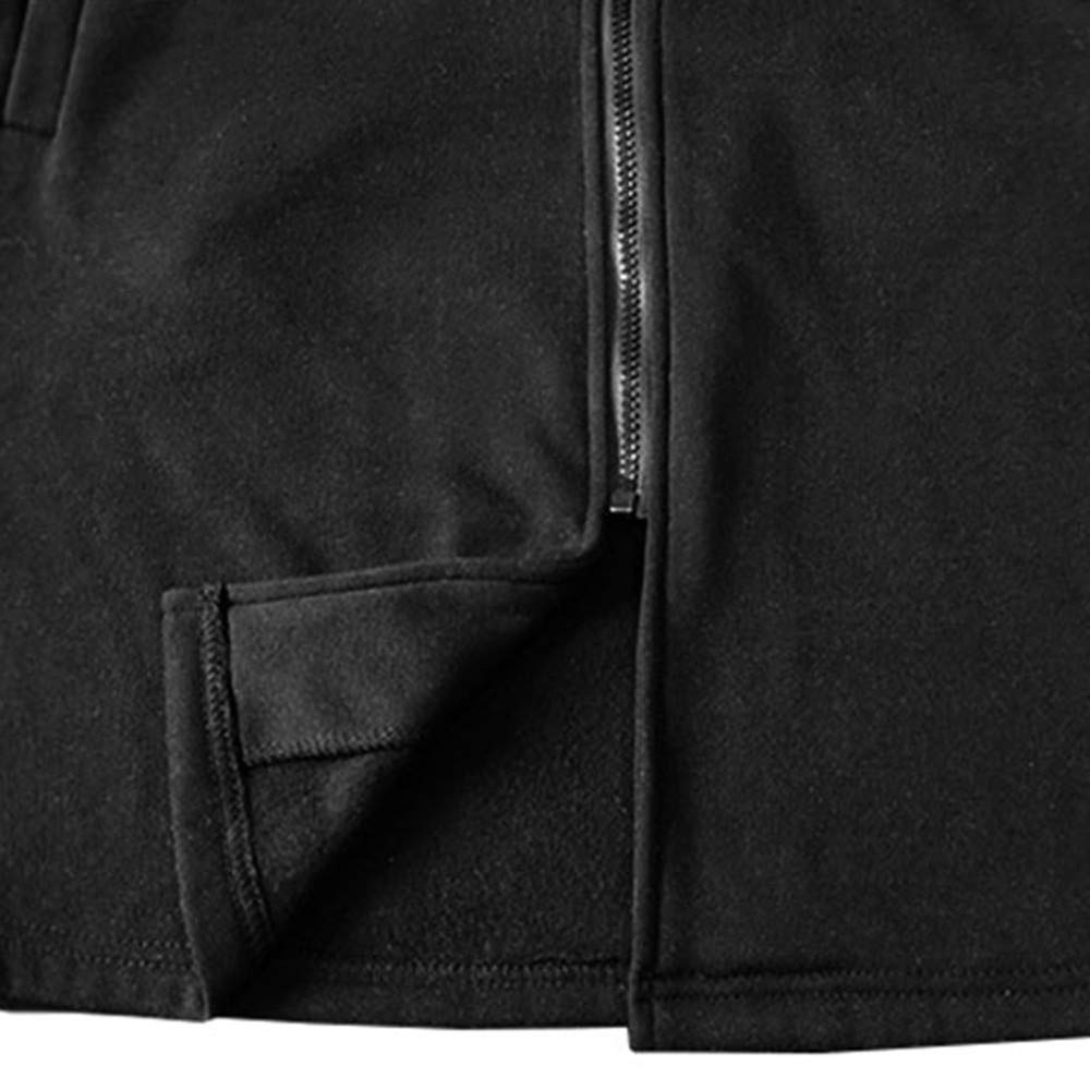 Amazon.com: 2018 BoysJacket Coat,Mens Autumn Winter Casual Warm Stripe Zipper Long Sleeve Top Blouse (XL, Black): Electronics