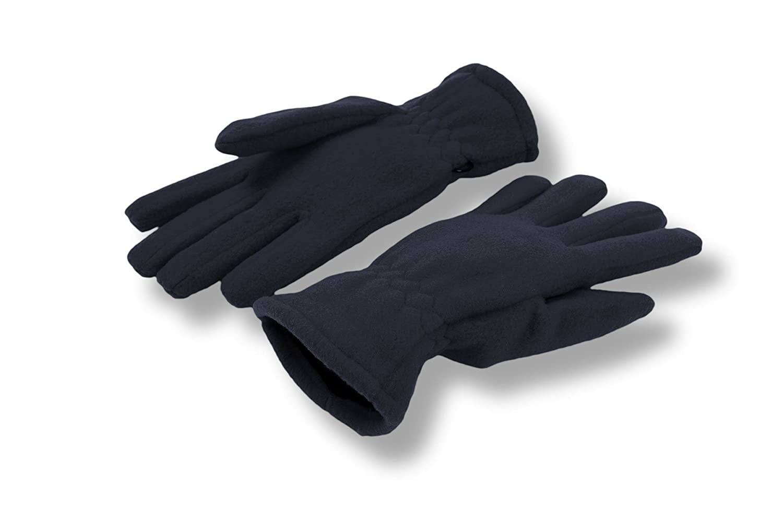 H-TWI-6 Fleecehandschuhe Fingerhandschuhe Herrenhandschuhe Damenhandschuhe Handschuhe Winterhandschuhe beige rot navy (blau) hellgrau schwarz