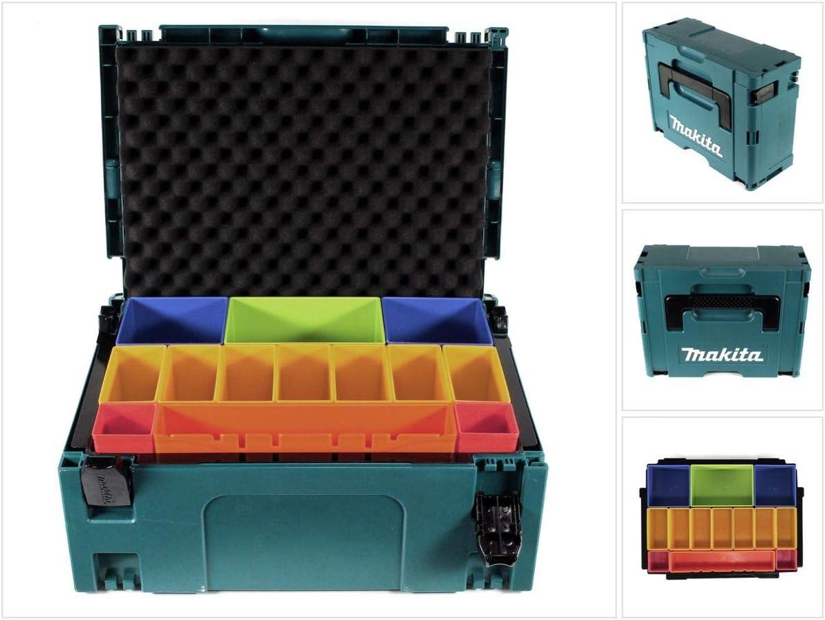 Makita MAKPAC 2 P-83652 - Caja de herramientas con inserto de ...