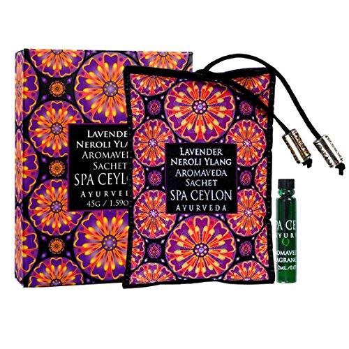Spa Ceylon Luxury Ayurveda Lavender Neroli Ylang Aromaveda Aroma Sachet, Aromatherapy Blend with Essential Oils, 45 Grams by Spa Ceylon (Image #1)
