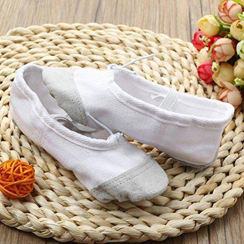TPulling Mode Junge Und Mädchen Kinder tanzen Praxis Schuhe Ballett Weiche Sohlen Schuhe Weiß