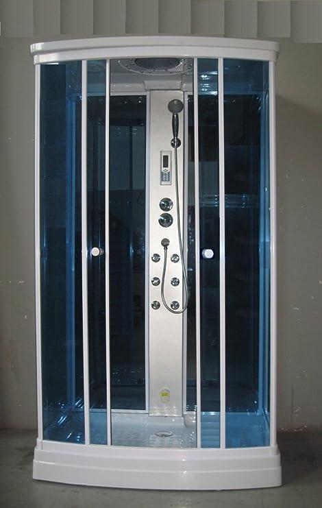 Cabina Box hidromasaje 120 x 80 con columna de ducha y baño turco ...