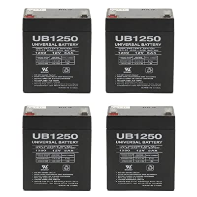 Universal Power Group New 12V 5Ah Sealed Lead Acid AGM Battery UB1250 Casil CA1245 Alarm System - 4 Pack : General Use Batteries : Sports & Outdoors