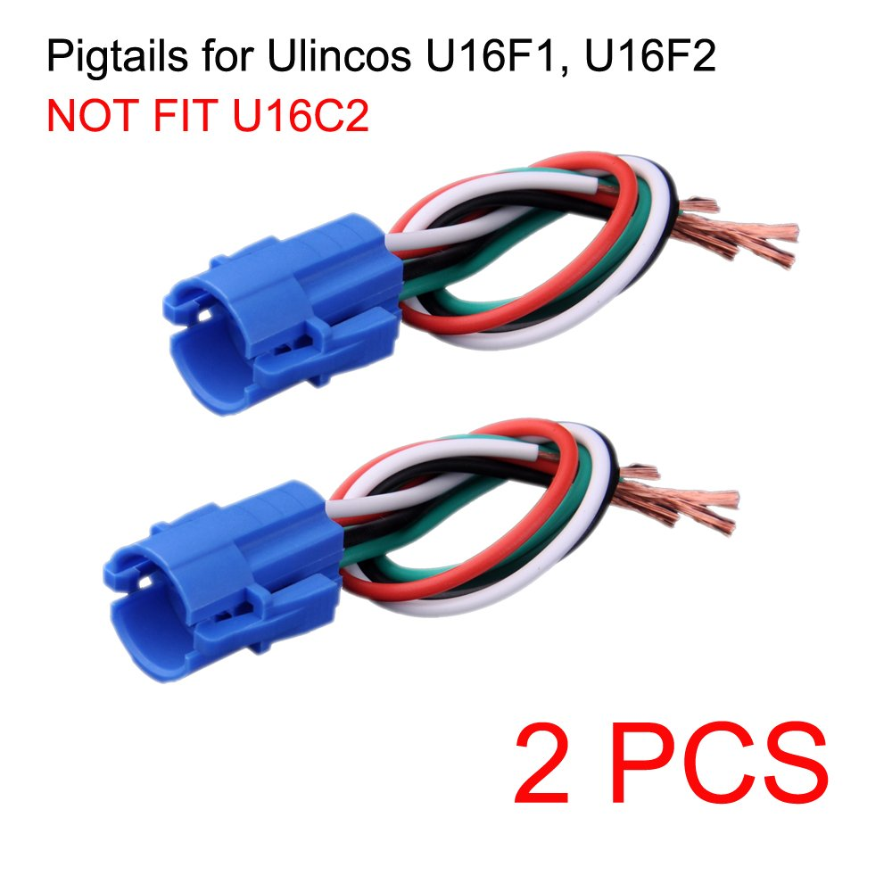Ulincos Not Fit U16c2 16mm Pigtail Wire Connector Only Wiring Diagram Pigtails For Automotive U16f1 U16f2 U16f5 Push Button Switch Pack Of 2