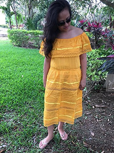 1a994b7cfa8e Amazon.com: Campesino yellow mexican dress for 15-18 years old woman:  Handmade