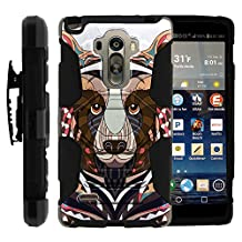 LG Stylo Case, Belt Clip, Full Protection Hybrid Armor Reloaded w/ Kickstand - Artistic Tribal Patterns - for LG G Stylo, G4 Stylus LS770, H631, MS631 by MINITURTLE - Bear Drawing