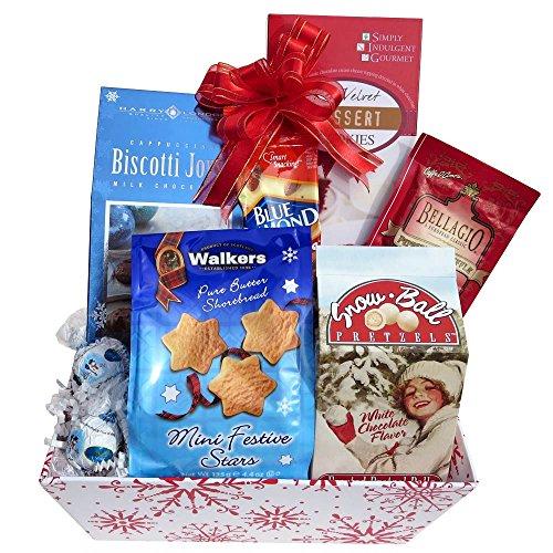 Great Gifts Baskets Winter Wonderland: Snowball Pretzels, Red Velvet Cookies, Lindt Snowman Truffles, More!