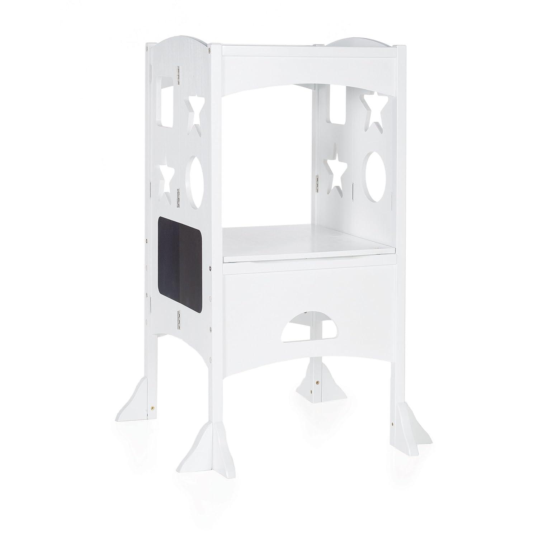Amazon.com: Guidecraft Classic Kitchen Helper - White: Folding ...