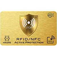 Carta di blocco RFID/NFC Protezione per carta di credito contactless, carte bancaria, pasaporto, carta bancomat