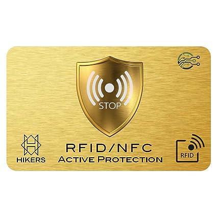 Tarjeta Anti RFID/NFC Protector de Tarjetas de crédito sin Contacto, 1 es Suficiente, di adiós a Las fundias, la Billetera Queda Completamente ...