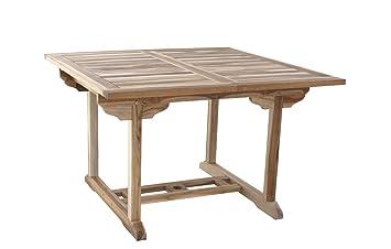 Sam Teak Holz Gartentisch Balkontisch Madera 120 170 X 120 Cm