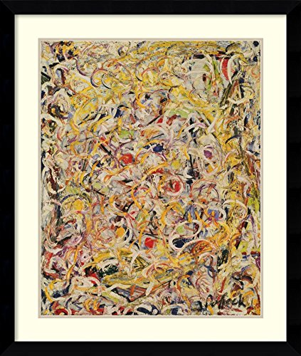 Framed Art Print, 'Shimmering Substance, 1946' by Jackson Pollock: Outer Size 33 x 39