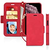 "Skycase iPhone 11 Pro Case 5.8"",[RFID Blocking] Handmade Flip Folio Wallet Case with Card Slots and Detachable Hand Strap for"