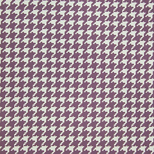 Grape Purple Check Houndstooth Geometric Jacquard Upholstery Fabric by the yard -