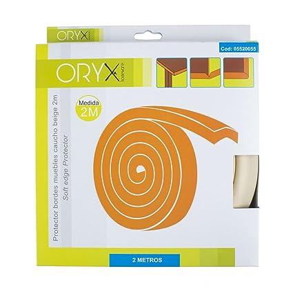 Oryx 5520055 Protector Bordes Muebles Adhesivo Caucho 2 Metros