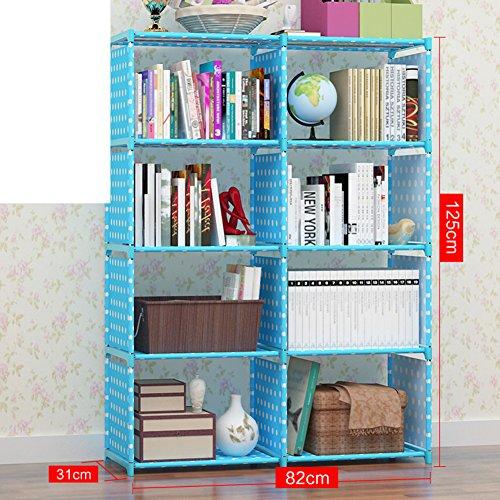 JX&BOOS Multi-layer bookshelf,Children students tabletop landing economical bookshelf simple plastic storage bookcase shelves-A (Economical Tabletop Display)