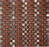 Red Velvet Glossy Sea Wave Glass Mosaic Tile for Bathroom and Kitchen Walls Kitchen Backsplashes By Vogue Tile
