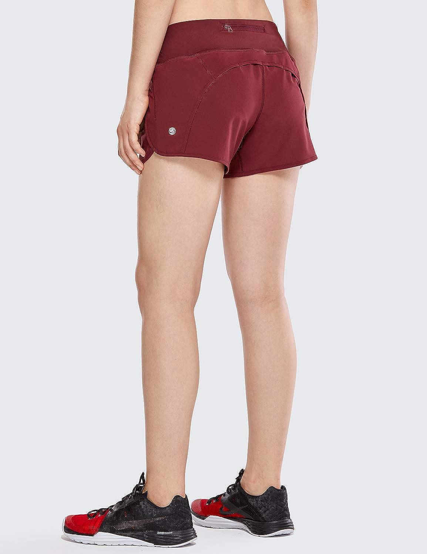 CRZ YOGA Pantal/ón Corto Deportivo Mujer Shorts Casual con Bolsillo para Gimnasio 10cm