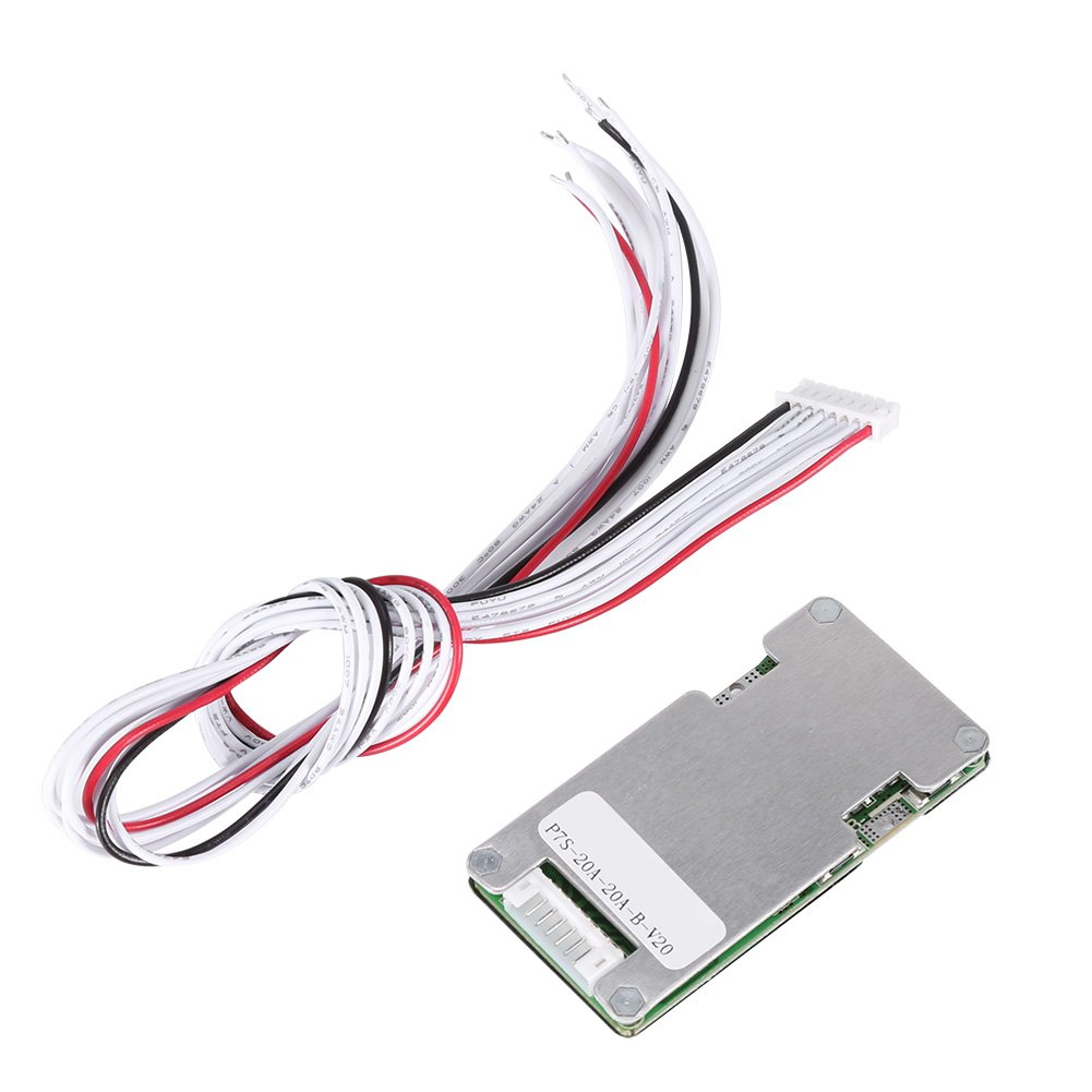 Akozon Batterie Schutzbrett 24V 20A 7S Lithium Li-ion LiFePO4 Battery Battery BMS Protection Board with Balancing
