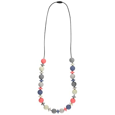 Teethease Medley Teething Necklace (Multi - Blue/Coral/Grey) : Baby Teether Toys : Baby [5Bkhe1100445]