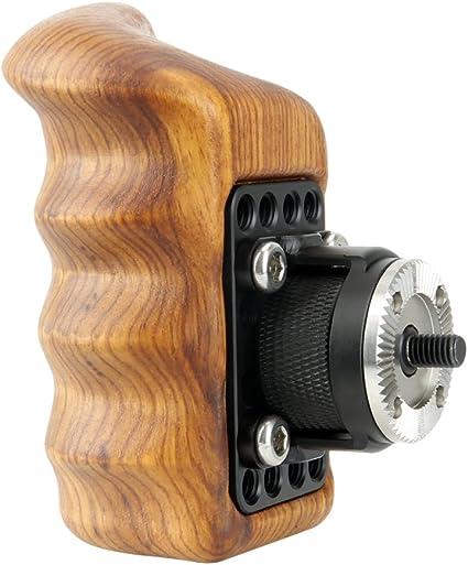 Niceyrig Holzgriff Grip Mit Standard Rosette Für Kamera Kamera