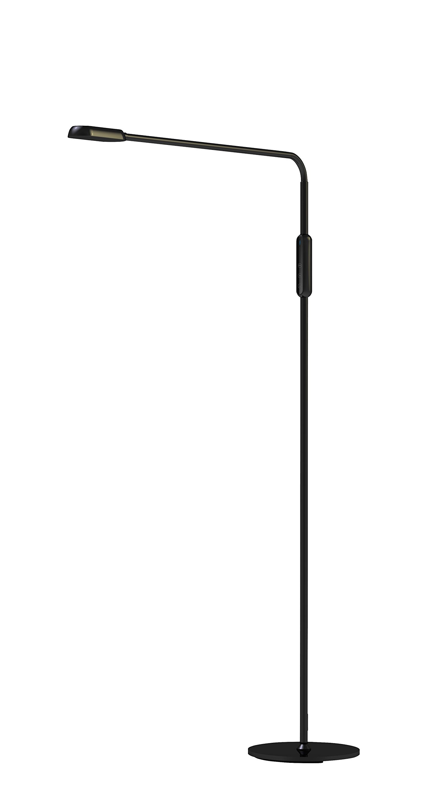 Cnlight Touch LED Gooseneck Mordern Light Standing Craft Floor Lamp with Touch Control, Remote, 5-Level Dimmer, 5 Color Temperatures, 9 Watts for Living Room, Bedroom, Reading Room, Office.(Black)