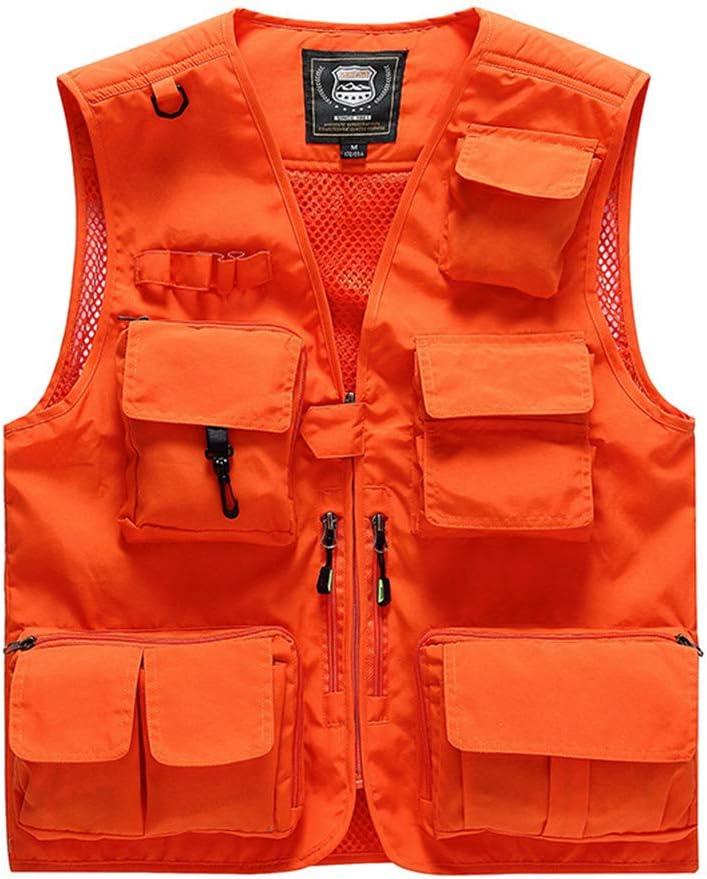 Multifunctional Sports Vest Jacket Camping Climbing Equipment Vest Unisex Greem-3XL