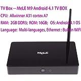 MeLE M9 Quad Core 2GB/16GB HD 4K Mini PC Android TV Box +F10 pro Voice Keyboard