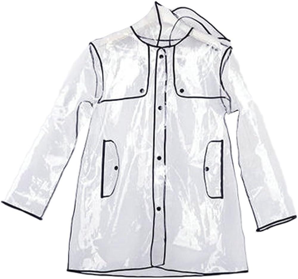 KISSFEEL Transparent Raincoat Adulte/Imperm/éable r/éutilisable Pluie Urgence avec Capuche