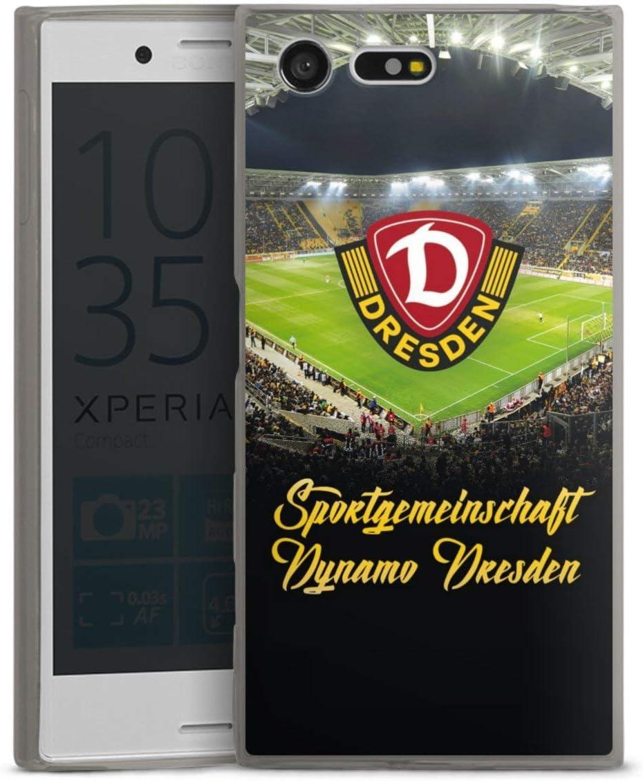 Slim Case extra d/ünn kompatibel mit Sony Xperia X Compact Silikon Handyh/ülle anthrazit H/ülle Offizielles Lizenzprodukt Fu/ßball SG Dynamo Dresden