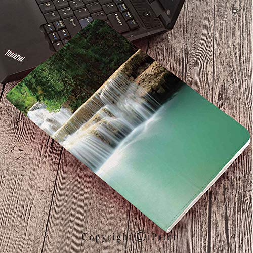 - Samsung Tab S3 9.7 SM-T820 SM-T825 Tablet Case Protective Cover Crystal Case,Waterfall,Falling Stream Waterfall Natural Pond Thailand Vacation Theme Print,Almond Green Brown White